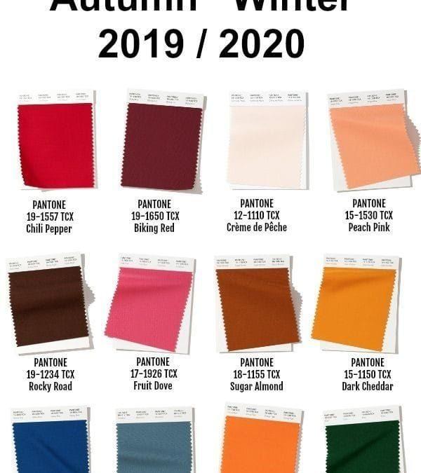 7 Colores de moda para este otoño invierno 2019 2020